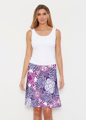 Garden Jewel Purple (2891) ~ Silky Brenda Skirt 21 inch
