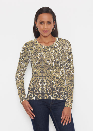Glitzy Black (3789) ~ Signature Long Sleeve Crew Shirt