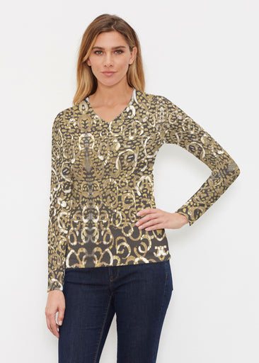 Glitzy Black (3789) ~ Butterknit Long Sleeve V-Neck Top