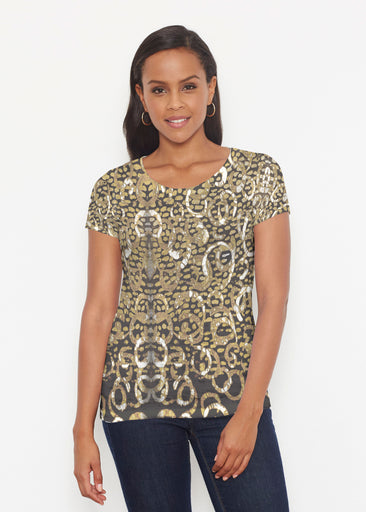 Glitzy Black (3789) ~ Signature Short Sleeve Scoop Shirt