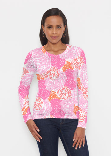 Chrysanthemum Pink (4074) ~ Signature Long Sleeve Crew Shirt