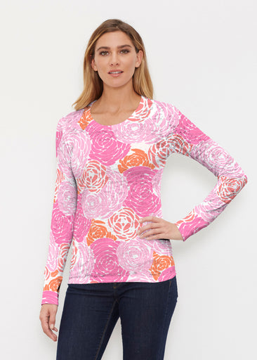 Chrysanthemum Pink (4074) ~ Thermal Long Sleeve Crew Shirt