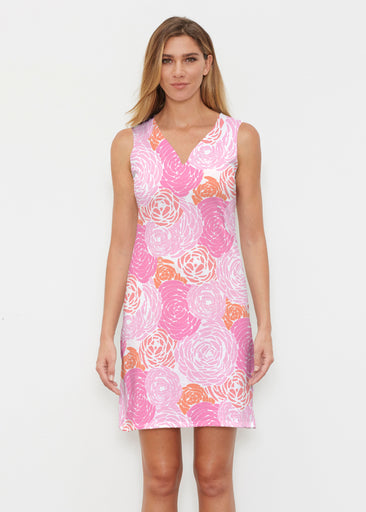 Chrysanthemum Pink (4074) ~ Classic Sleeveless Dress