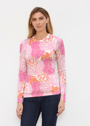 Chrysanthemum Pink (4074) ~ Butterknit Long Sleeve Crew Top