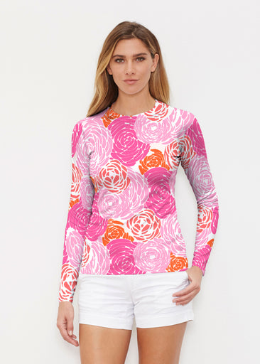 Chrysanthemum Pink (4074) ~ Long Sleeve Rash Guard