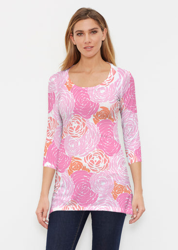 Chrysanthemum Pink (4074) ~ Buttersoft 3/4 Sleeve Tunic