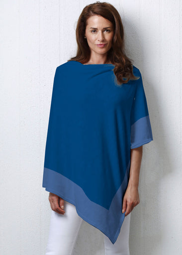 Navy-Denim (5162) ~ Slub Poncho