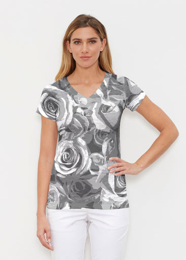 Vintage Rose (5165) ~ Signature Cap Sleeve V-Neck Shirt