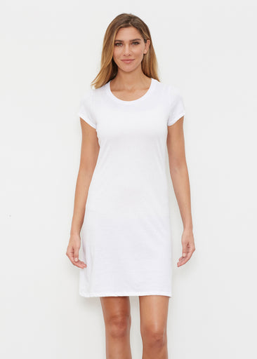 Natural White (5555) ~ Classic Crew Dress