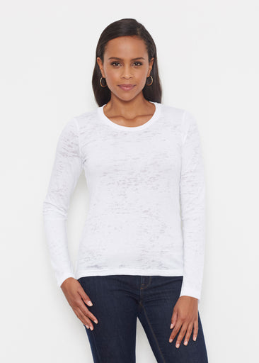 Natural White (5555) ~ Signature Long Sleeve Crew Shirt