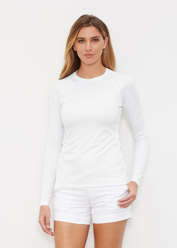 Natural White (5555) ~ Long Sleeve Rash Guard