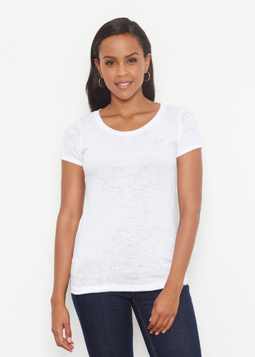 Natural White (5555) ~ Signature Short Sleeve Scoop Shirt