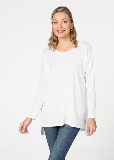 Natural White (5555) Slouchy Butterknit Top
