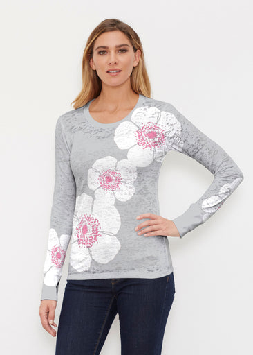 Poppy Grey (7016) ~ Thermal Long Sleeve Crew Shirt