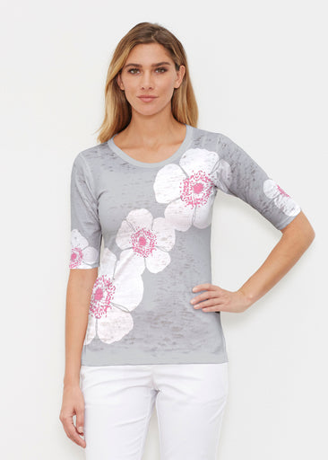 Poppy Grey (7016) ~ Signature Elbow Sleeve Crew Shirt