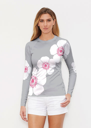 Poppy Grey (7016) ~ Long Sleeve Rash Guard