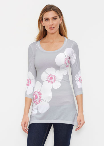 Poppy Grey (7016) ~ Buttersoft 3/4 Sleeve Tunic