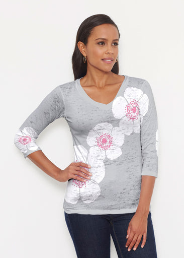 Poppy Grey (7016) ~ Signature 3/4 V-Neck Shirt
