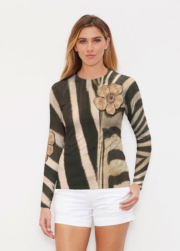 Poppy Zebra (7022) ~ Long Sleeve Rash Guard