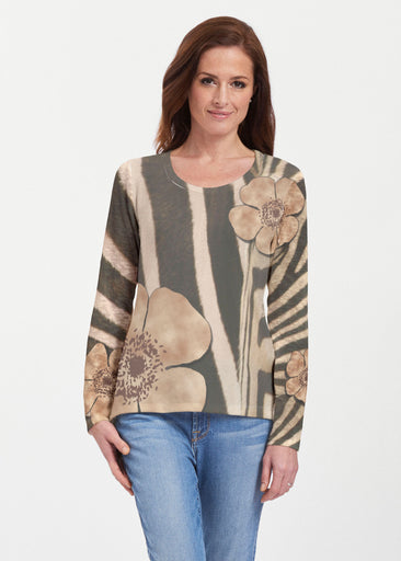 Poppy Zebra (7022) ~ Texture Mix Long Sleeve