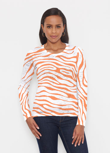 Zebra Orange (7042) ~ Signature Long Sleeve Crew Shirt