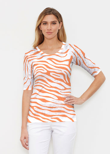 Zebra Orange (7042) ~ Signature Elbow Sleeve Crew Shirt