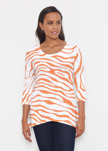 Zebra Orange (7042) ~ Katherine Hi-Lo Thermal Tunic