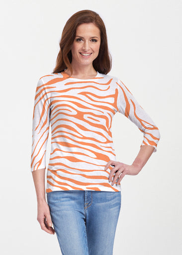 Zebra Orange (7042) ~ Premium 3/4 Sleeve Crew