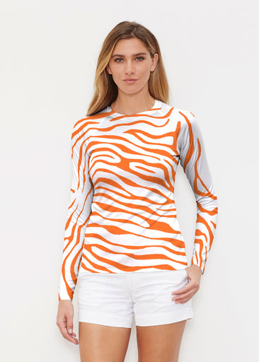 Zebra Orange (7042) ~ Long Sleeve Rash Guard