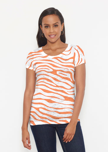 Zebra Orange (7042) ~ Signature Short Sleeve Scoop Shirt