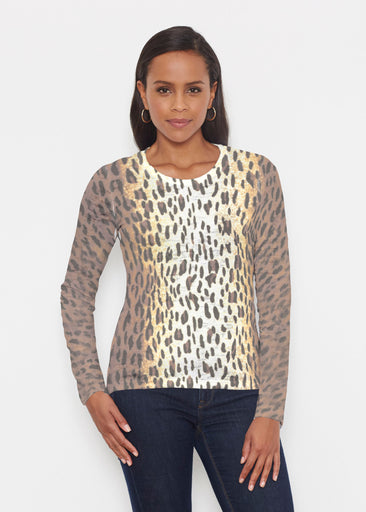 Leopard Brown (7049) ~ Signature Long Sleeve Crew Shirt