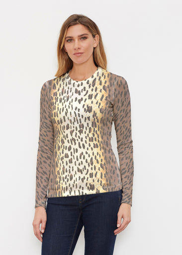 Leopard Brown (7049) ~ Butterknit Long Sleeve Crew Top
