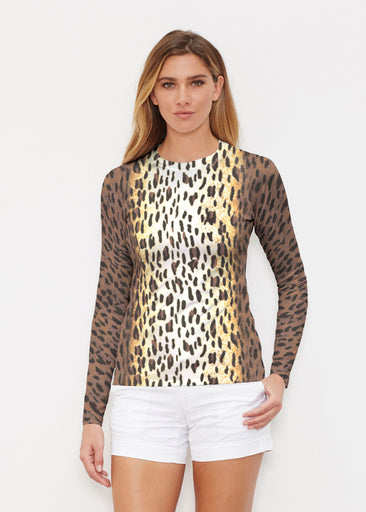Leopard Brown (7049) ~ Long Sleeve Rash Guard