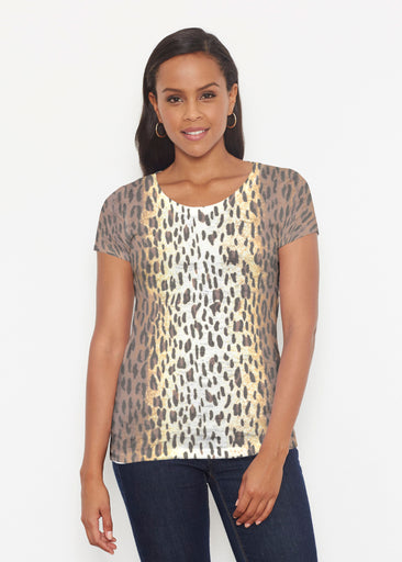 Leopard Brown (7049) ~ Signature Short Sleeve Scoop Shirt