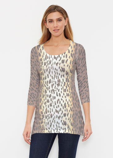 Leopard Brown (7049) ~ Buttersoft 3/4 Sleeve Tunic