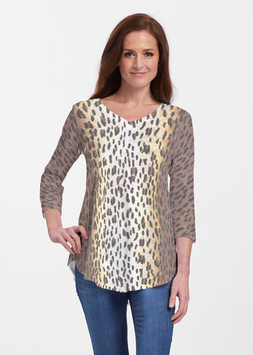 Leopard Brown (7049) ~ Signature V-neck Flowy Tunic