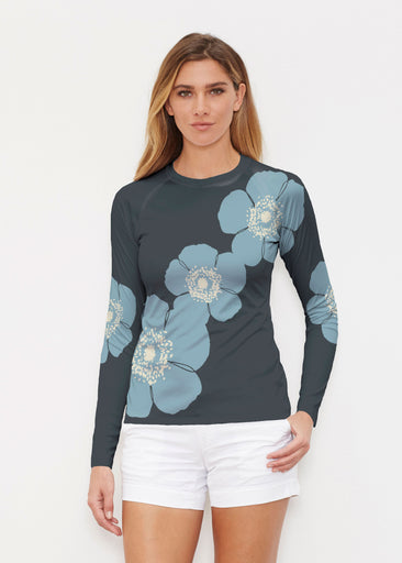 Poppy SteelBlue-Grey (7066) ~ Long Sleeve Rash Guard