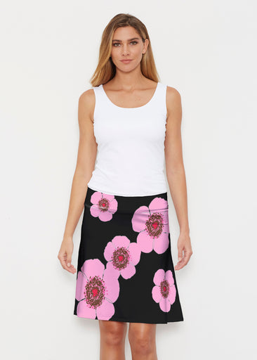 Poppy Black Stripes (7100) ~ Silky Brenda Skirt 21 inch