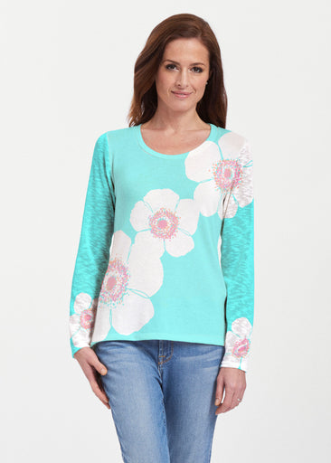 Poppy Seaglass Green (7107) ~ Texture Mix Long Sleeve