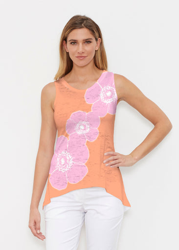 Poppy Orange-Pink (7108) ~ Signature High-low Tank