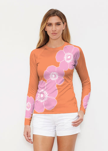 Poppy Orange-Pink (7108) ~ Long Sleeve Rash Guard