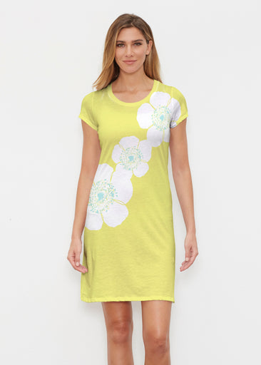 Poppy Chartreuse (7146) ~ Classic Crew Dress
