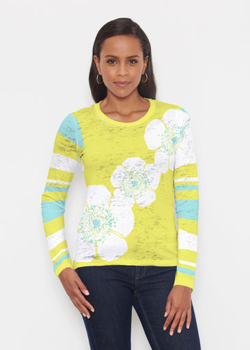 Poppy Chartreuse (7146) ~ Signature Long Sleeve Crew Shirt