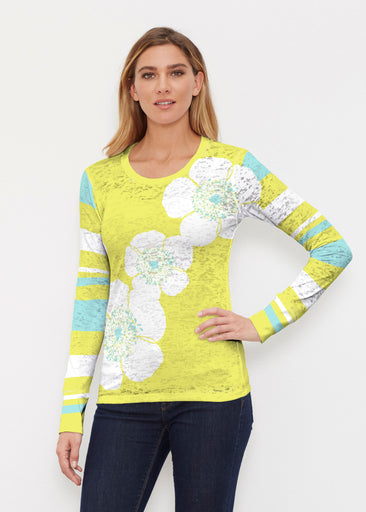 Poppy Chartreuse (7146) ~ Thermal Long Sleeve Crew Shirt
