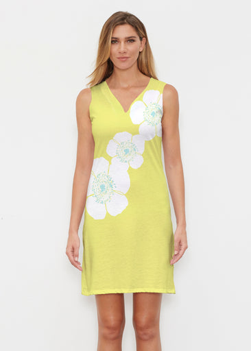 Poppy Chartreuse (7146) ~ Classic Sleeveless Dress