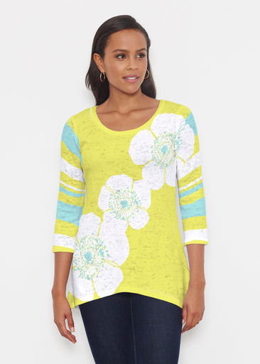 Poppy Chartreuse (7146) ~ Katherine Hi-Lo Thermal Tunic