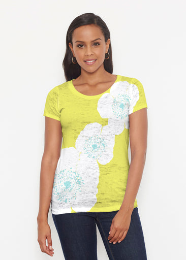 Poppy Chartreuse (7146) ~ Short Sleeve Scoop Shirt