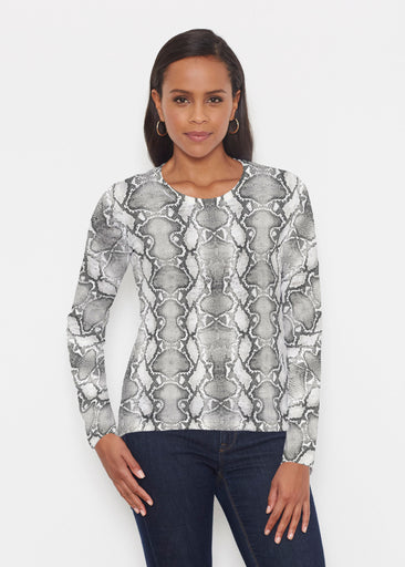 Python Silver (7272) ~ Signature Long Sleeve Crew Shirt