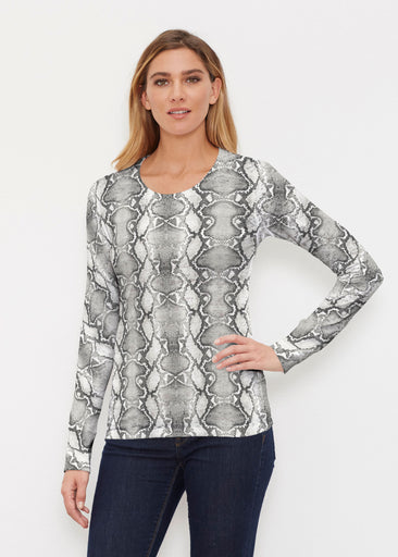 Python Silver (7272) ~ Thermal Long Sleeve Crew Shirt