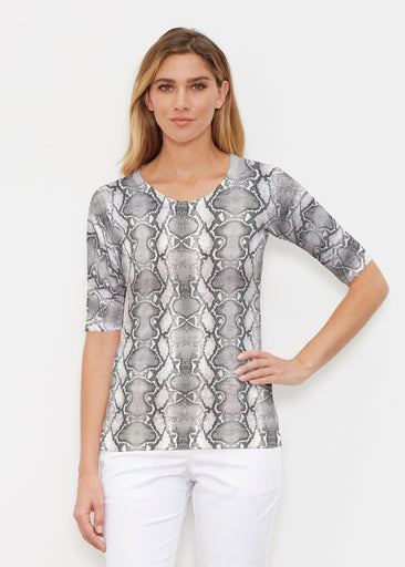 Python Silver (7272) ~ Signature Elbow Sleeve Crew Shirt